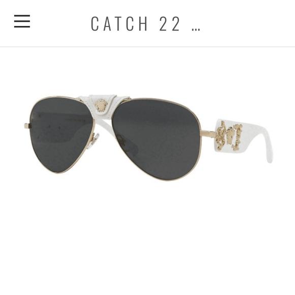 1125925d8302 Versace White Baroque Aviator Sunglasses. M 5c304130df0307d9d30c0d98. Other  Accessories ...